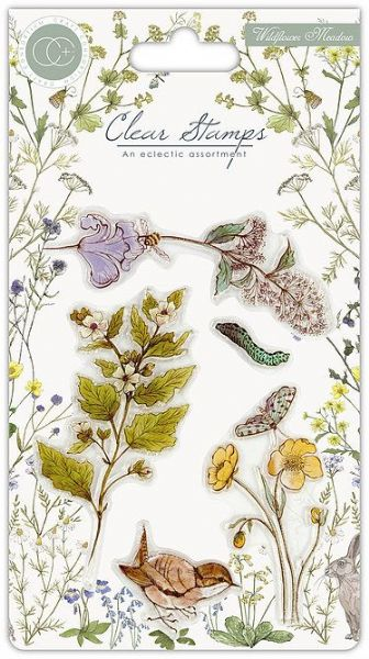 Craft Consortium - Wild Flowers - A6 Clear Stamp Set